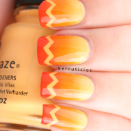 Orange gradient with zigzag tips