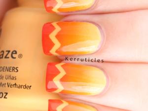 Orange gradient with zigzag tips