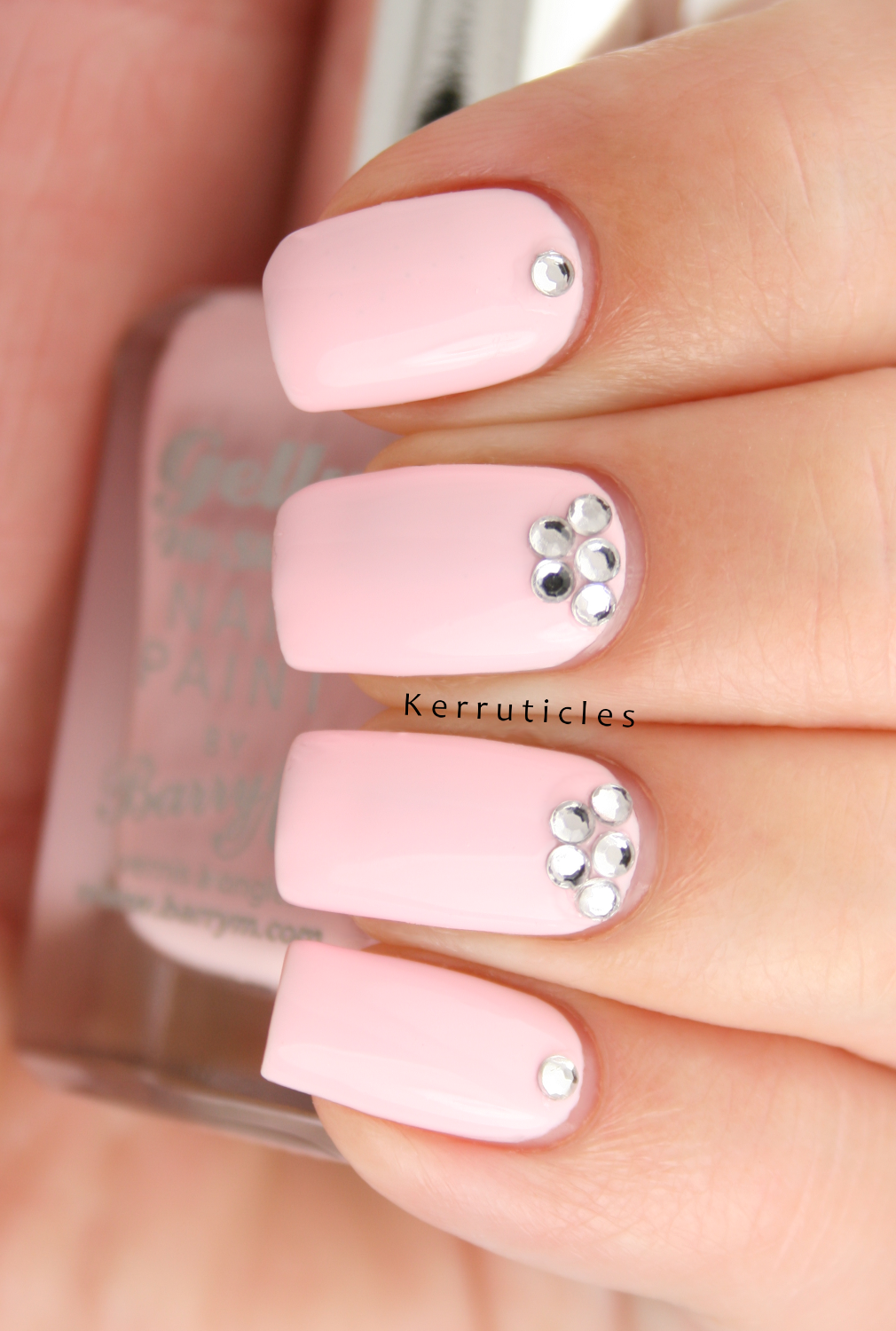 Barry M Rose Hip with rhinestones: August Polish Party | Kerruticles
