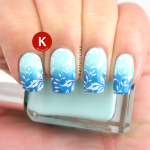 Blue gradient with stamping