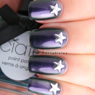 Ciaté Starlet duochrome with star studs nails