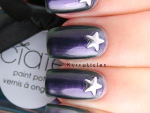Ciaté Starlet duochrome with star studs nails