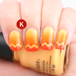Orange zigzag tips gradient