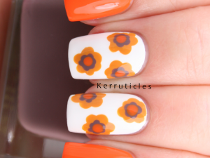 70s floral Barry M wallpaper 1970s nails