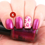 Pink shimmer with flowery accent