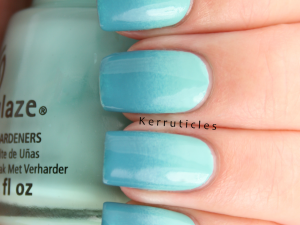 Teal gradient using China Glaze For Audrey and A England Galahad