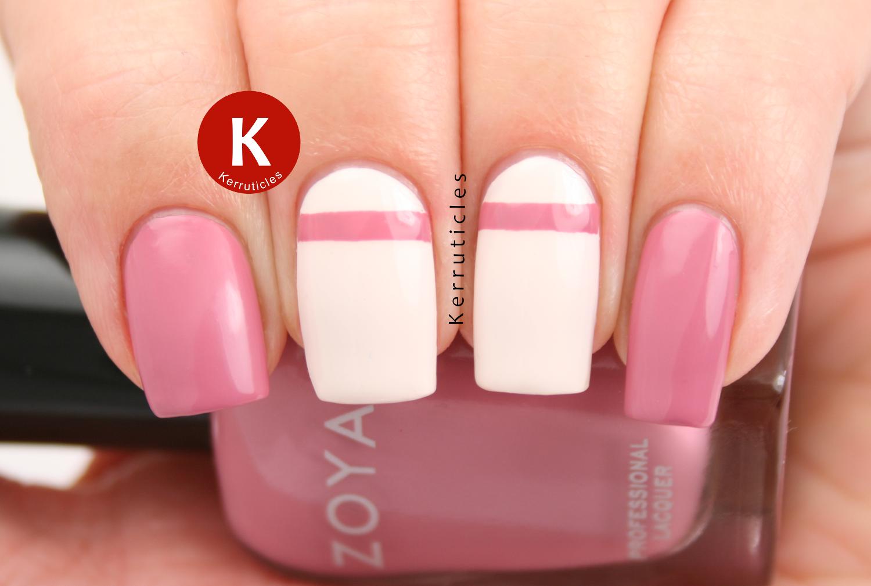 Zoya Zanna pink cream stripe