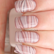 Brown and cream Barry M water marble