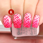 Pink gradient stamped Barry M IG