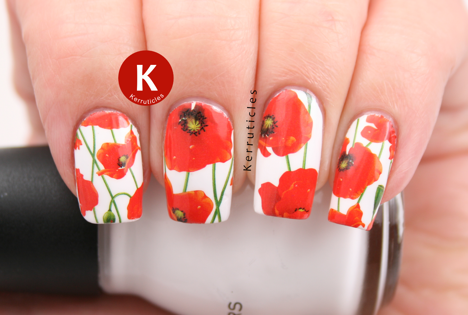 Poppies for Remembrance Sunday - water decal from Born Pretty Store