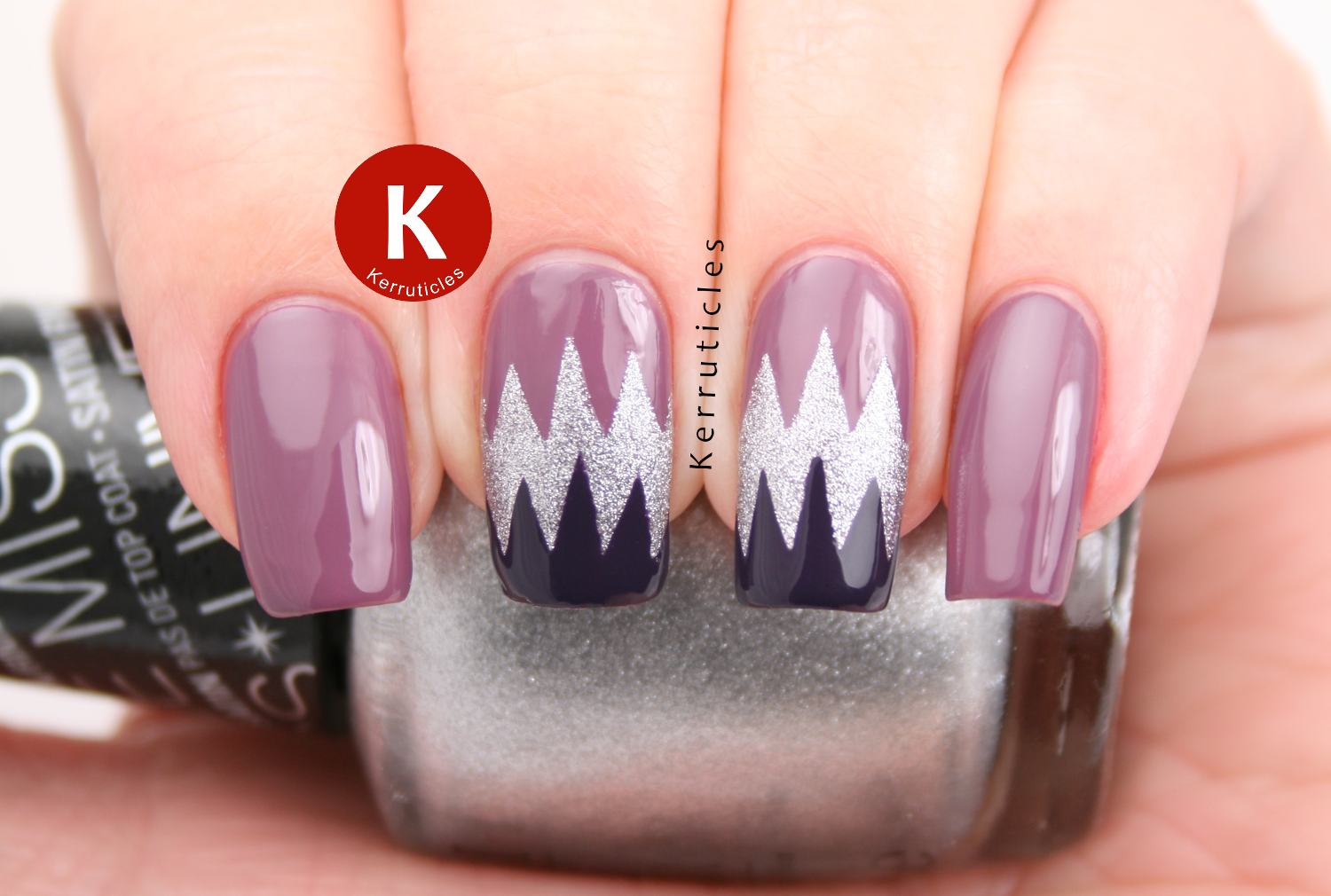 smART nails P017 big teeth using OPI Miss Universe collection