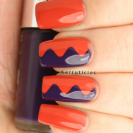 Curvy zigzags using Ciate Encore! and Nails Inc Wigmore Street