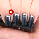 Shimmery dark grey with studs