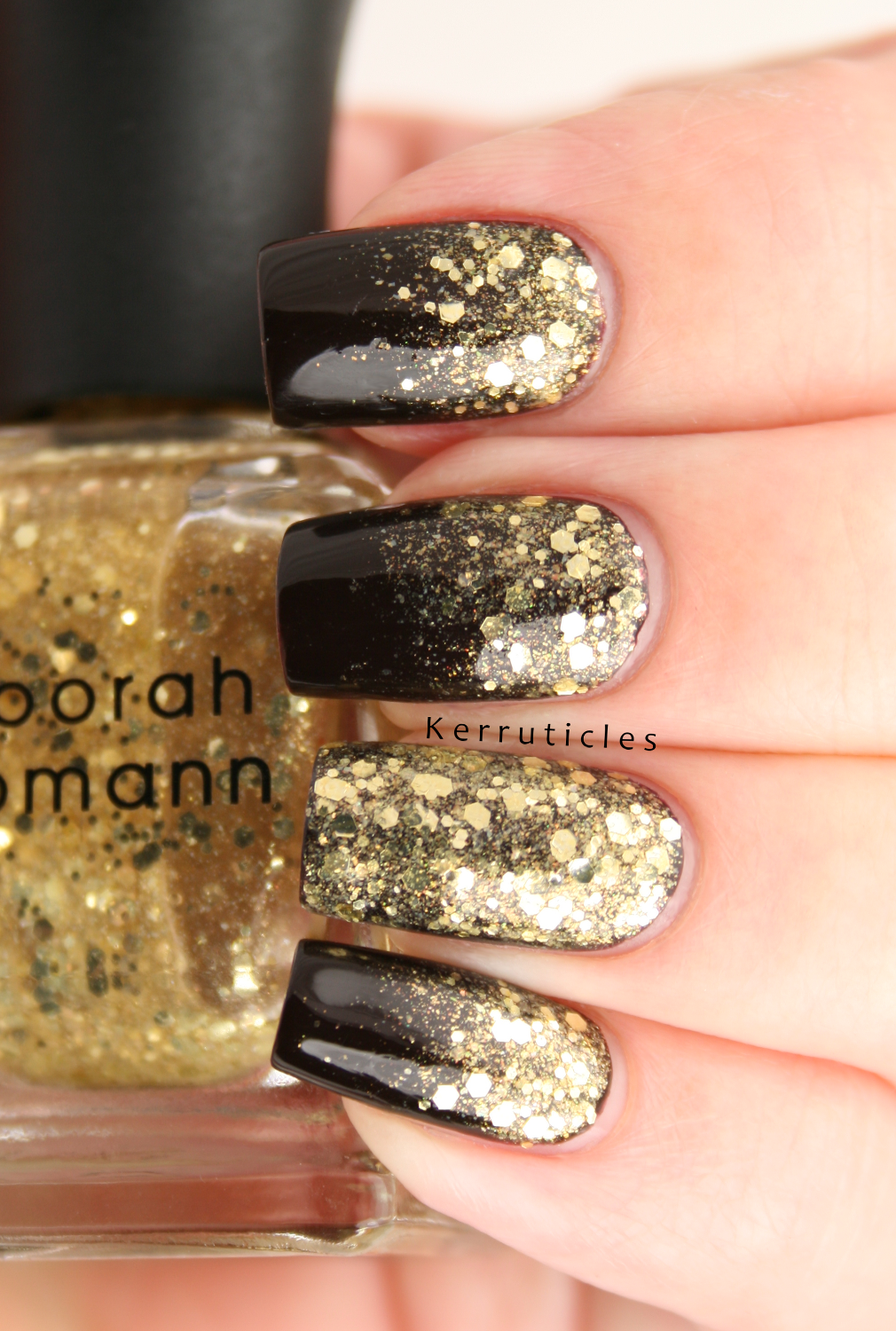 Gold glitter gradient | Kerruticles