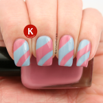 Pink and Blue Curved Sections