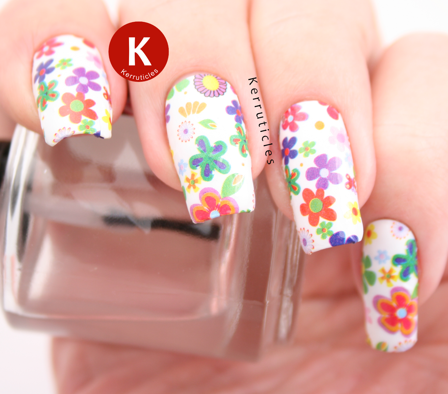 Floral OMG Nail Strips