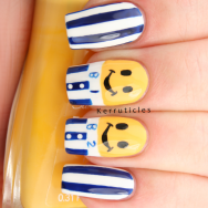 Bananas in Pyjamas nails