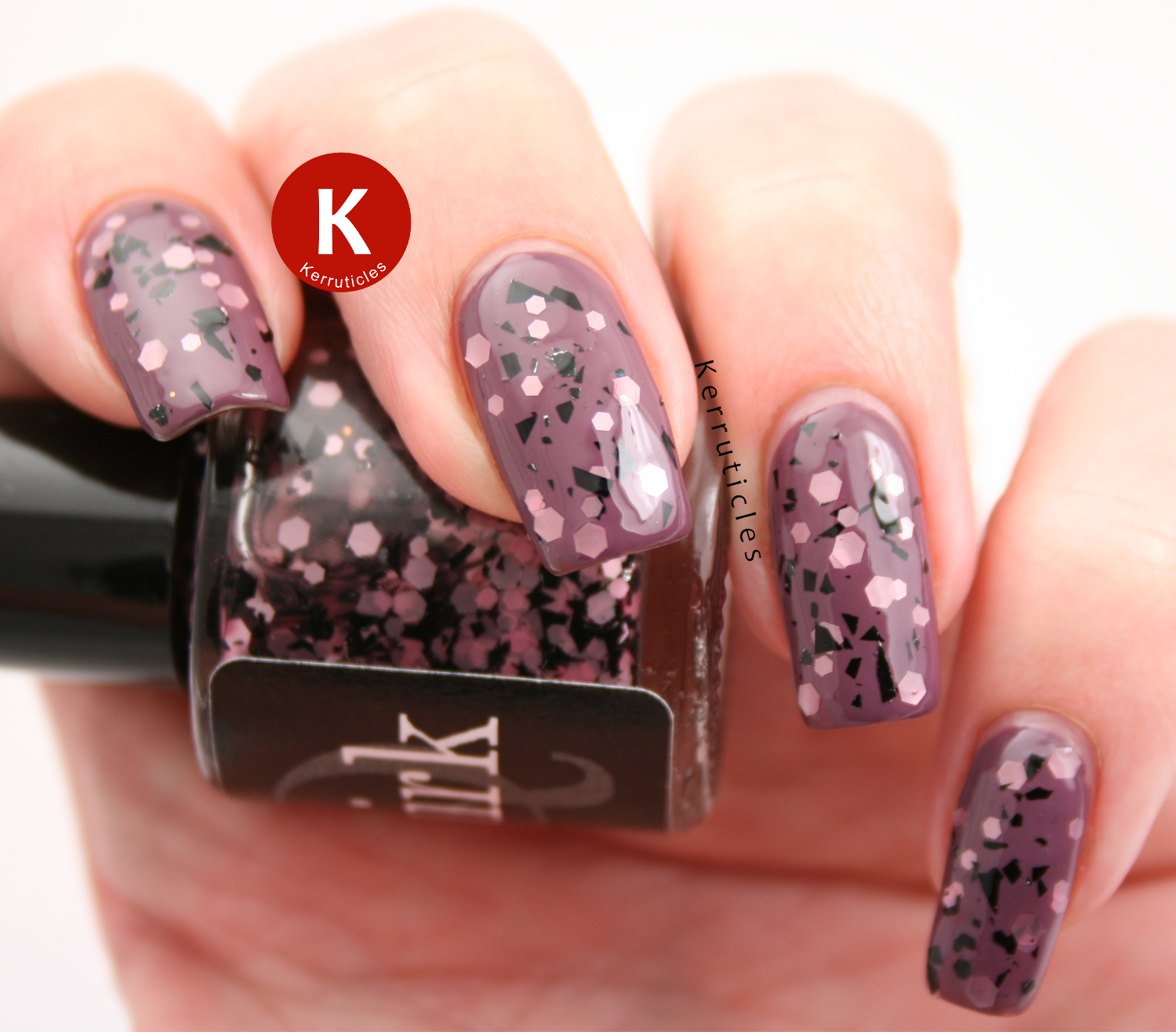 Quirk Eponine over Barry M Vintage Violet