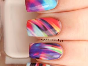 Born Pretty Store multi-coloured swirl pattern water decals