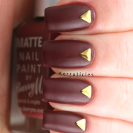 Barry M Crush with gold triangular studs