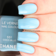 Chanel Coco Blue nails