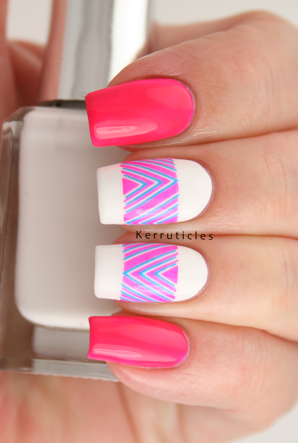 Neon Pink and Blue Chevron Decals | Kerruticles