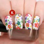 Floral nail strips
