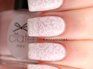 Stamped lace nails using Ciaté Amazing Gracie and Born Pretty Store BP-02