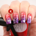 Stamped red and purple gradient