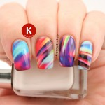 Multi-coloured swirl pattern decals