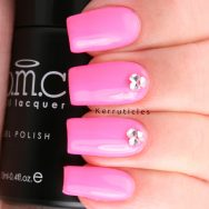Neon pink with crystal 3D rhinestones, using Bundle Monster Sunset Walk