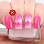 Pink scaled gradient zigzags