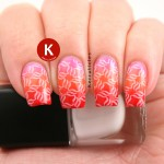 Stamped pink, orange and red gradient