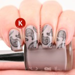 Taupe paisley Nails Inc Marylebone Mews BM-315