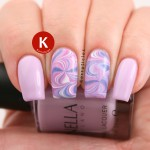 Purple, pink and lavender swirl water marble