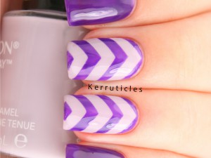 Purple and lilac chevrons using L'Oréal Atomic Purple and Revlon Provence