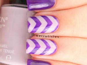 Purple and lilac chevrons using L'Oréal Atomic Purple and Revlon Provence