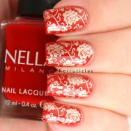 Red and gold Chinese pattern using Nella Milano Scarlet Heat and Bundle Monster BM-XL151