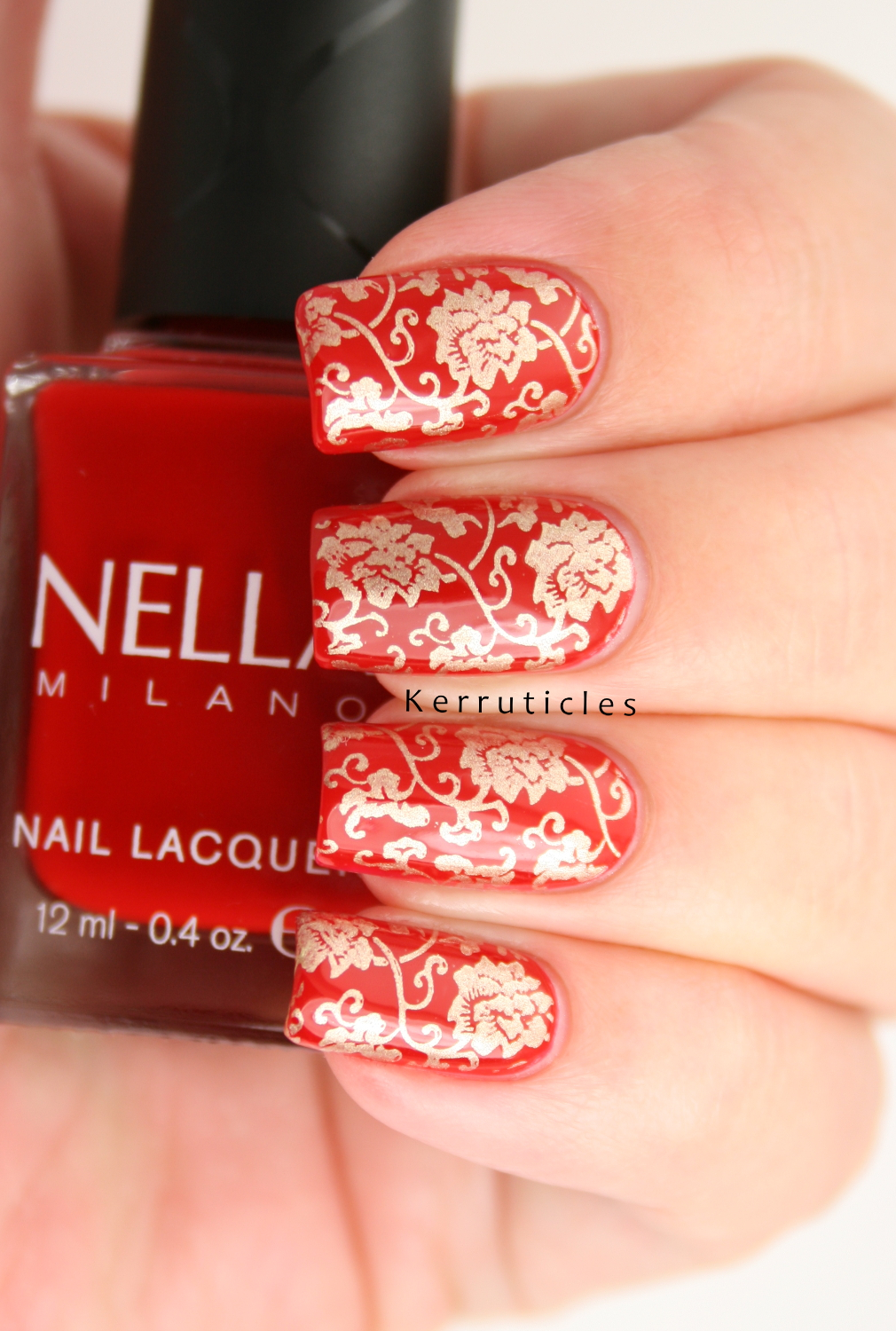 Red and Gold Chinese Pattern | Kerruticles