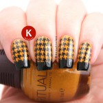 Black and gold houndstooth tips