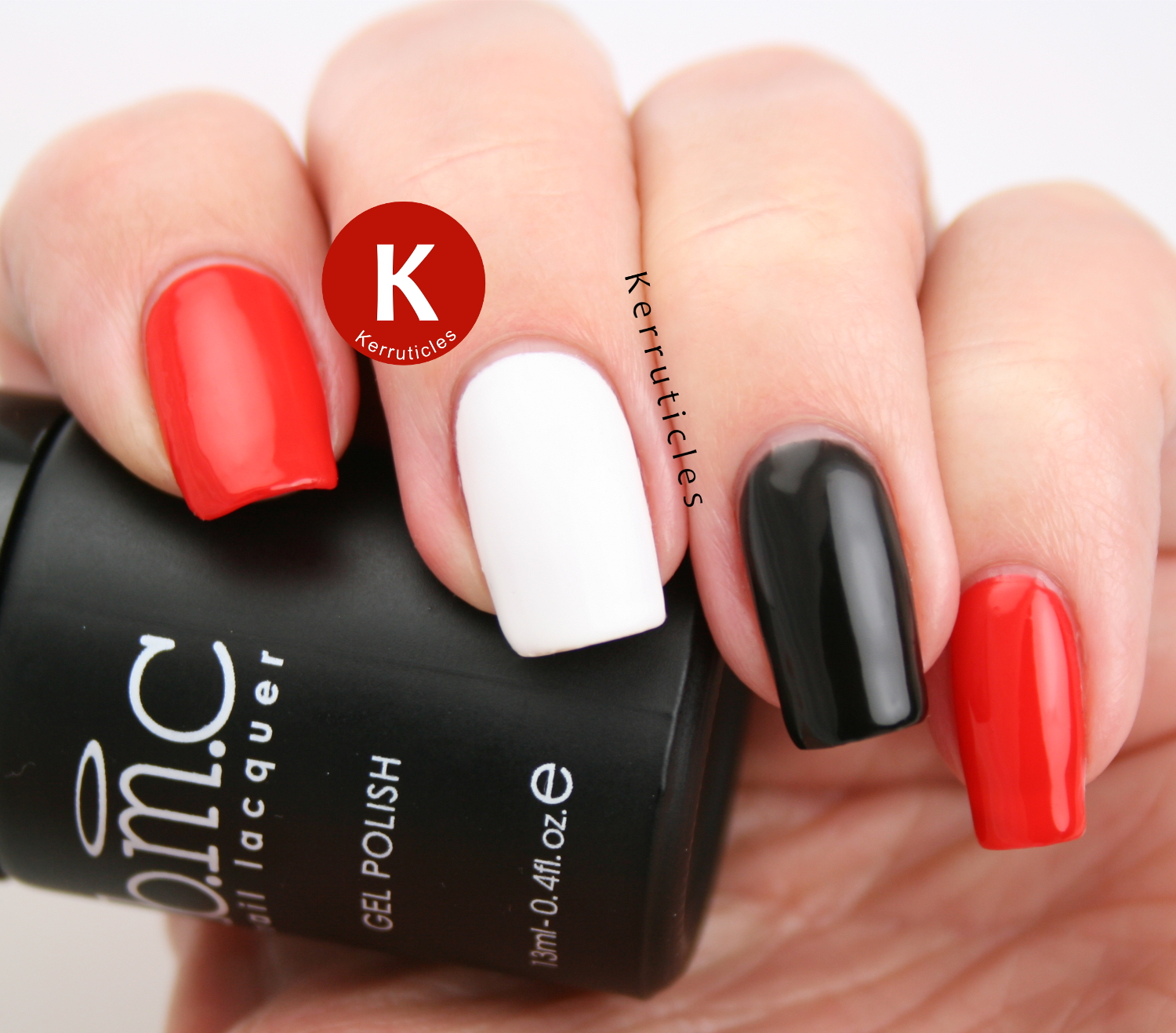 Bundle Monster Gel Polish & LED Flashlight Set: Rouge Lipstick, Button Down and Cocktail Dress