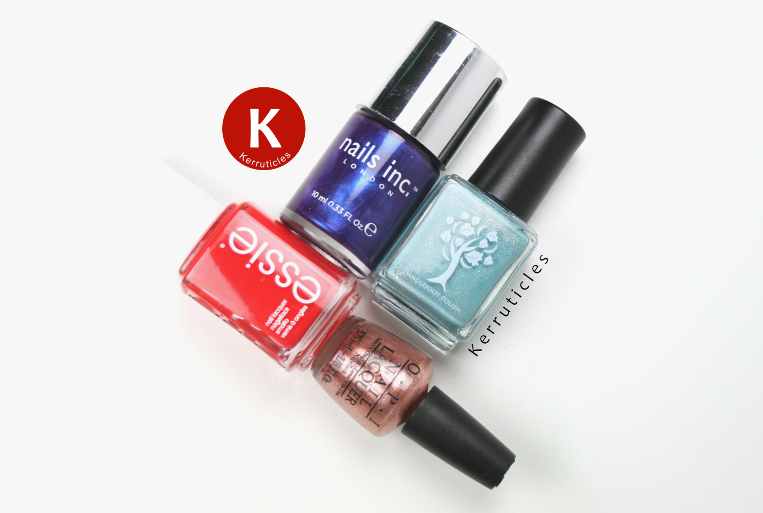 The polishes you get with the September 2015 Coloristiq Manicure Box