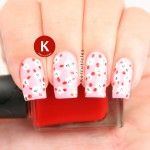 Pink, red and white mini dotted flowers