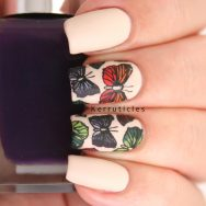 Butterfly stamping decals