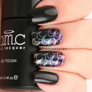 Gradient pigment stamping using Bundle Monster Star Dust pigments and CICI & SISI 03
