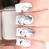 Black and white swirly floral stamping, inspired by Grace Kelly's dress in Rear Window