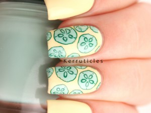 Cucumber nails on yellow