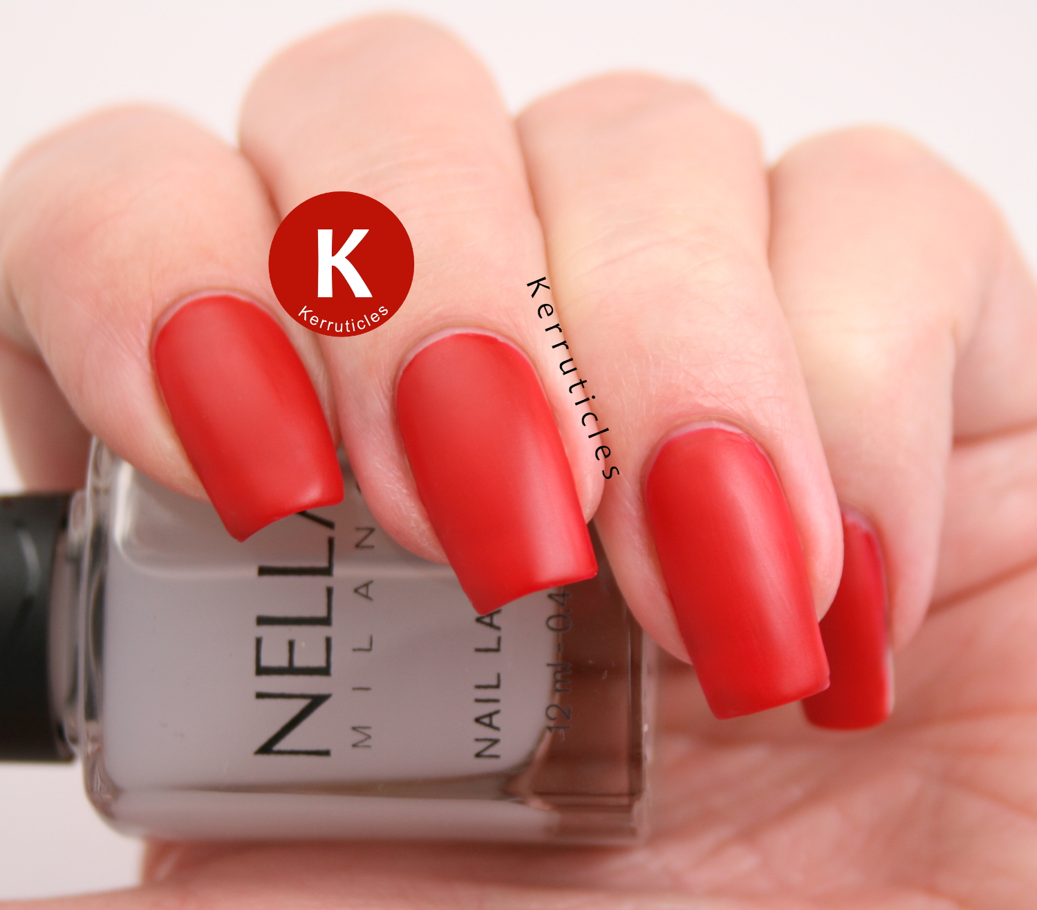 Nella Milano Matt Top Coat with Scarlet Heat