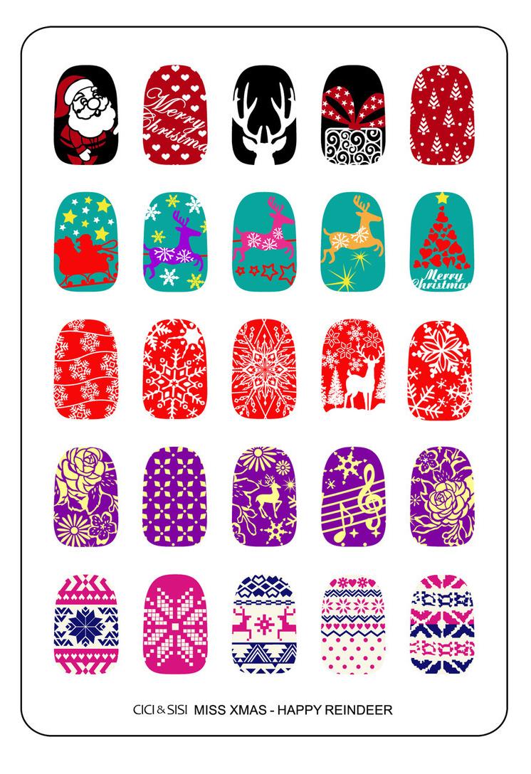 CICI & SISI Miss Xmas Happy Reindeer manicure ideas
