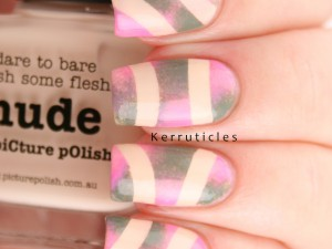 Picture Polish Nude, Camo and Candy nail art for Picture Polish Fest 2015